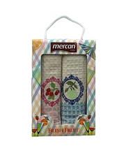 Набор кухонных полотенец Mercan вафельных Fresh Fruit Вишня и Яблоко 50*70 2 шт (ts-6001058)