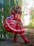"""Спідничка з плетеним поясом """"МарциПані"""" (літо) оранж 146, фото 4"""