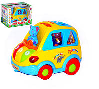 Развивающая игрушка для малышей Машинка-сортер 9198