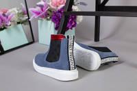 Ботинки челси из нубука для девочки, цвет джинс