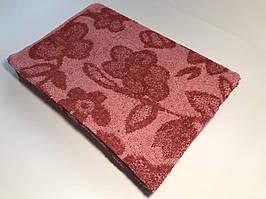 Полотенце махровое Визон Цветок 70*140 красный (ts-00064)