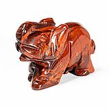 Статуэтка Слоник из красной яшмы, 502ФГЯ, фото 2