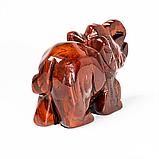 Статуэтка Слоник из красной яшмы, 502ФГЯ, фото 3