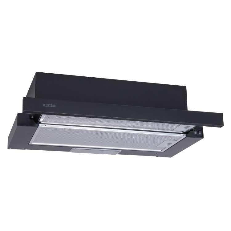 Витяжка Ventolux GARDA 60 BK (700) SLIM Телескопічна Чорна