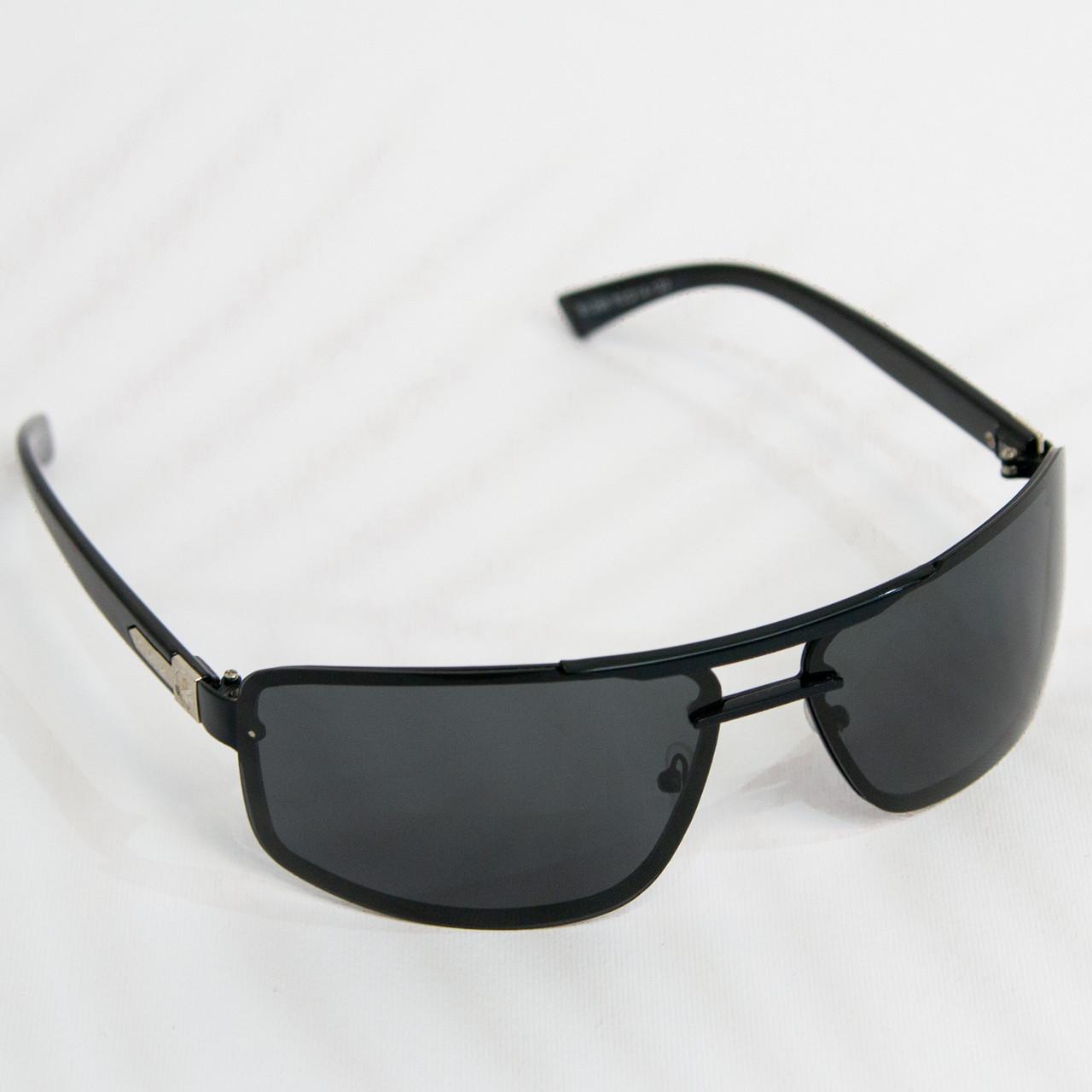 Оптом Очки мужские солнцезащитные поляризационные - Черные - 1288