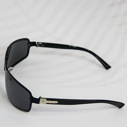Оптом Очки мужские солнцезащитные поляризационные - Черные - 1288, фото 3