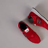 Красные замшевые кроссовки с вставками сетки для мальчика, фото 2
