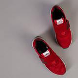 Красные замшевые кроссовки с вставками сетки для мальчика, фото 3