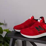 Красные замшевые кроссовки с вставками сетки для мальчика, фото 4