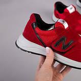 Красные замшевые кроссовки с вставками сетки для мальчика, фото 5