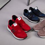 Красные замшевые кроссовки с вставками сетки для мальчика, фото 7
