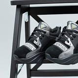 Кроссовки для девочки из замши и кожи, цвет черный и никель, фото 5