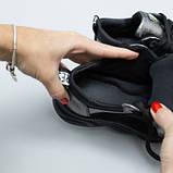 Кроссовки для девочки из замши и кожи, цвет черный и никель, фото 6