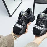 Кроссовки для девочки из замши и кожи, цвет черный и никель, фото 7