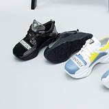 Кроссовки для девочки из замши и кожи, цвет черный и никель, фото 8