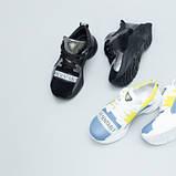 Кроссовки для девочки из замши и кожи, цвет черный и никель, фото 9