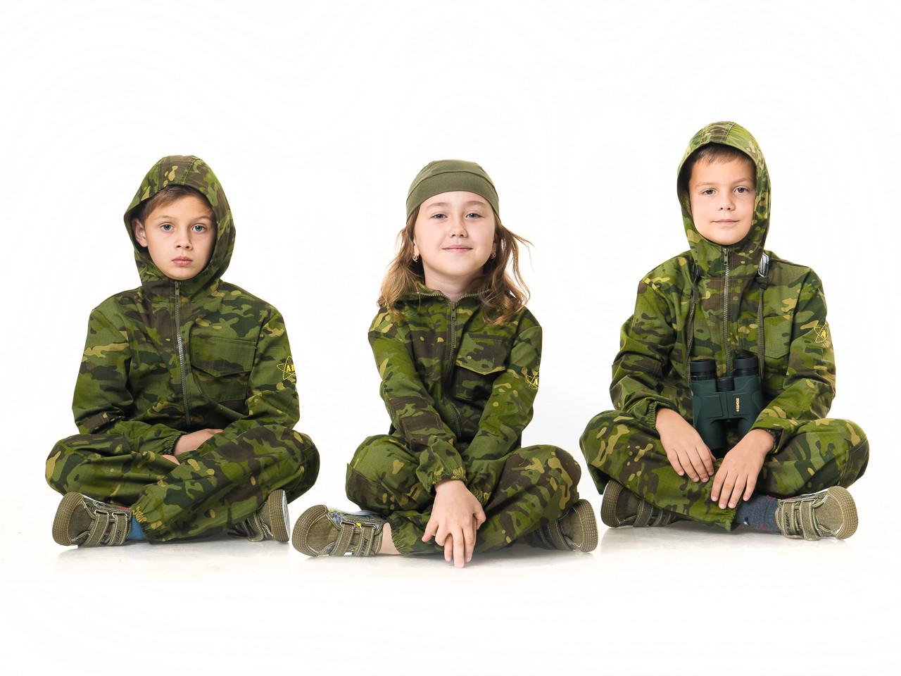 Детский камуфляж комбинезон Страйкбол  камуфляж Мультикам Тропик