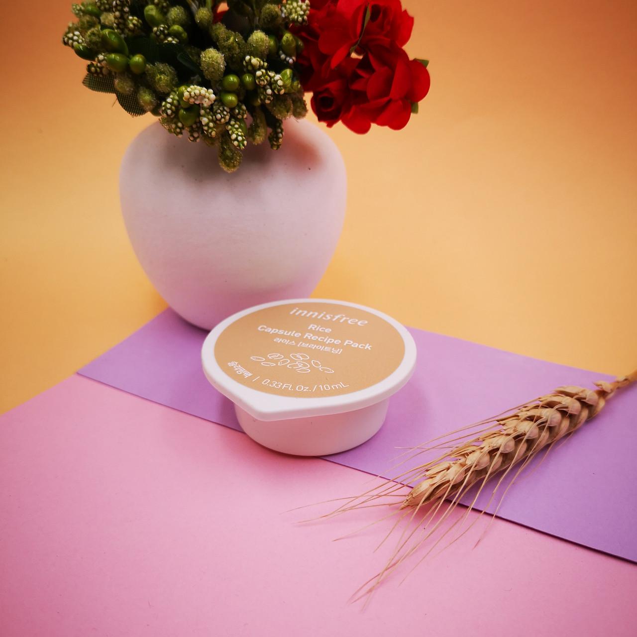 Innisfree Ночная маска для лица с экстрактом риса в капсуле (осветление) Capsule Recipe Pack-Rice