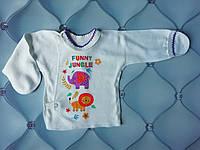 Кофточка на кнопках Джунгли, тонкая, р. 56 (для новорожденных)