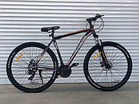 """Велосипед алюминиевый горный TopRider-901 29"""" рама 21"""", черно- коричневый, фото 1"""