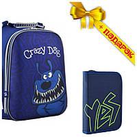 Рюкзак школьный каркасный YES H-12-2 Crazy dog, 38*29*15