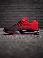 Демисезонные мужские кроссовки спортивные повседневные яркие кросовки красного цвета