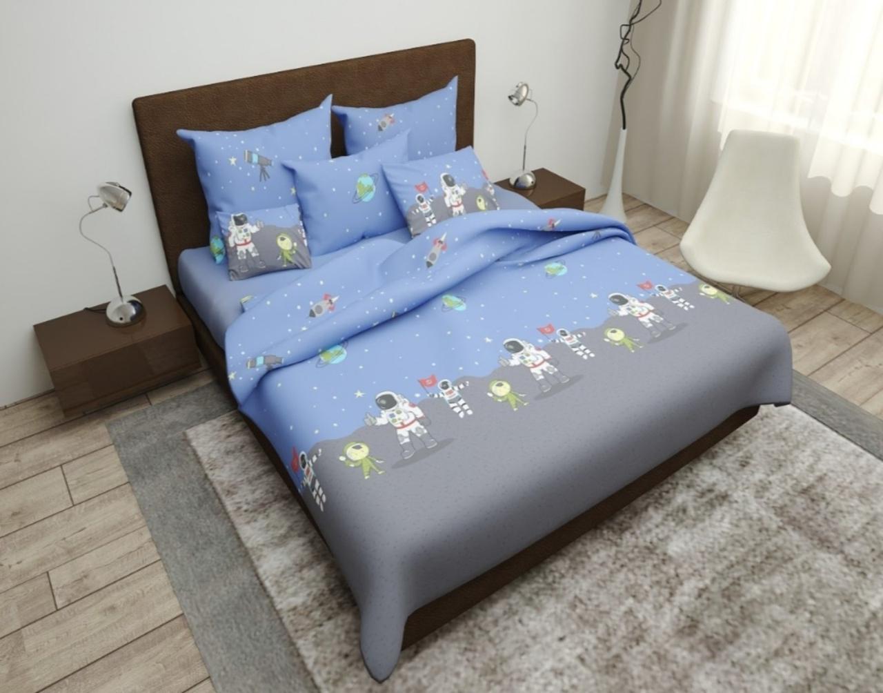 Комплект постельного белья подростковый  полуторный Космонавт