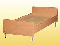 Кровать 1-спальная, с закругленными спинками, на металлическом каркасе — 1900х700х640-540 мм