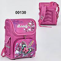 Рюкзак школьный N 00130, спинка ортопедическая, 3 кармана, ножки пластиковые
