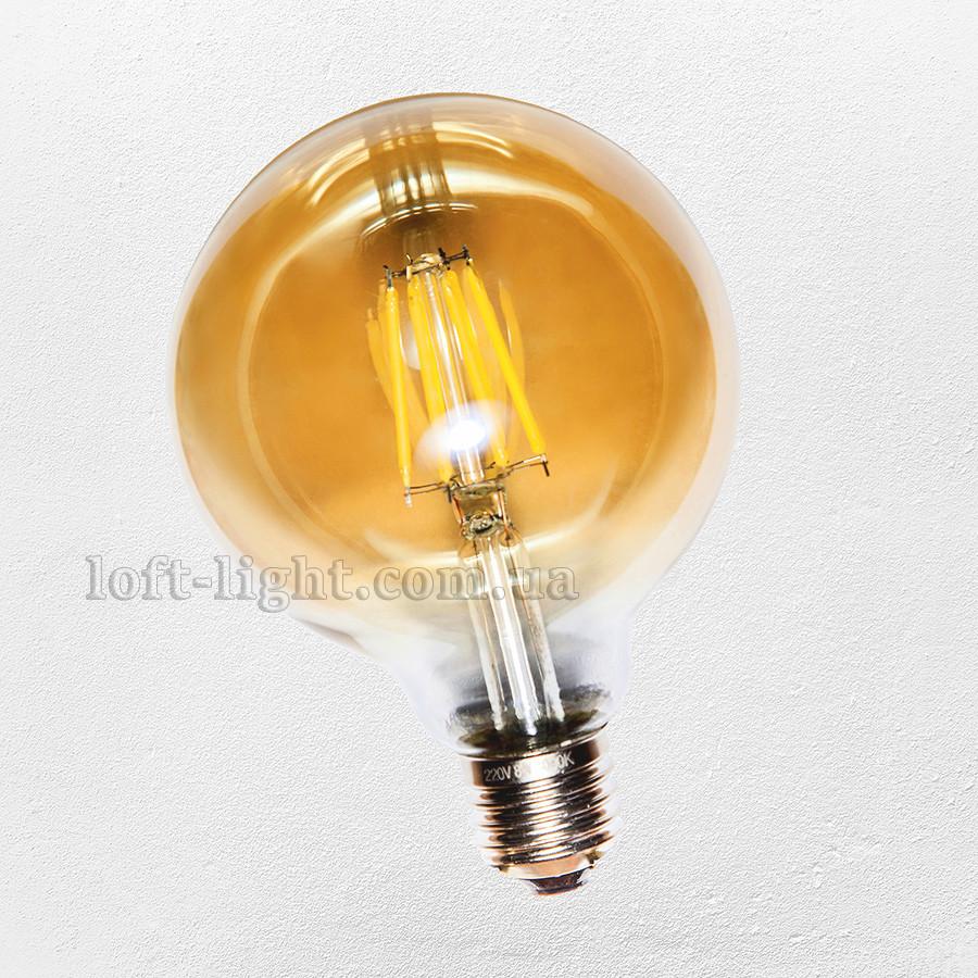 COW лампа Эдисона led G-95 / 6W Amber 2300K  RC