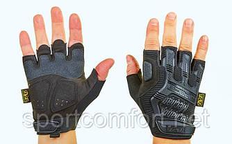 Перчатки мото Mechanix Black с защитой костяшек (беспалые)