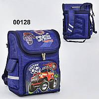 Рюкзак шкільний N 00128, ортопедична спинка, 3 кишені, пластикові ніжки