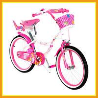 """Детский городской двухколесный велосипед для девочки 20"""" SW-17014-20 с корзиной (Розовый)"""