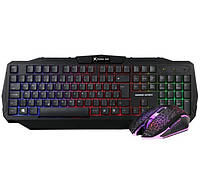Набор геймера: профессиональная игровая клавиатура и геймерская мышь XTRIKE ME MK-501KIT с подсветкой Reinbow