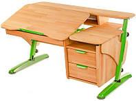 Письменный парта стол с полками Эргономический (дерево)
