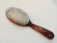 Расческа для волос SALON большая янтарь.металические гвозди