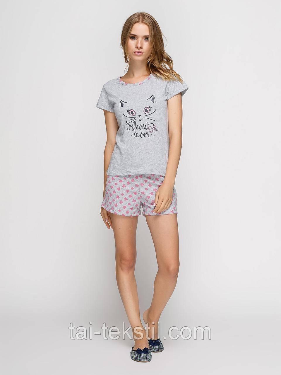 Пижама женская футболка и шорты хлопок т.м BAHAR Турция №