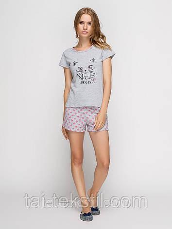 Пижама женская футболка и шорты хлопок т.м BAHAR Турция №, фото 2