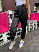 Трендовые штаны женские карго с цепочкой