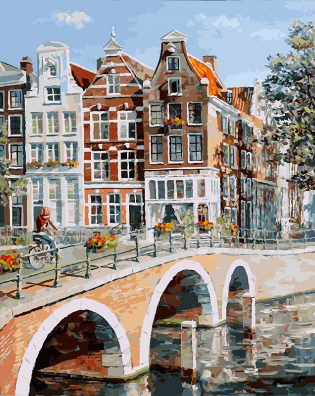 "Картина по номерам ""Императорский канал в Амстердаме"" Белоснежка 40х50 см"