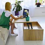 Стіл-трансформер Desk Дуб Венге, фото 2