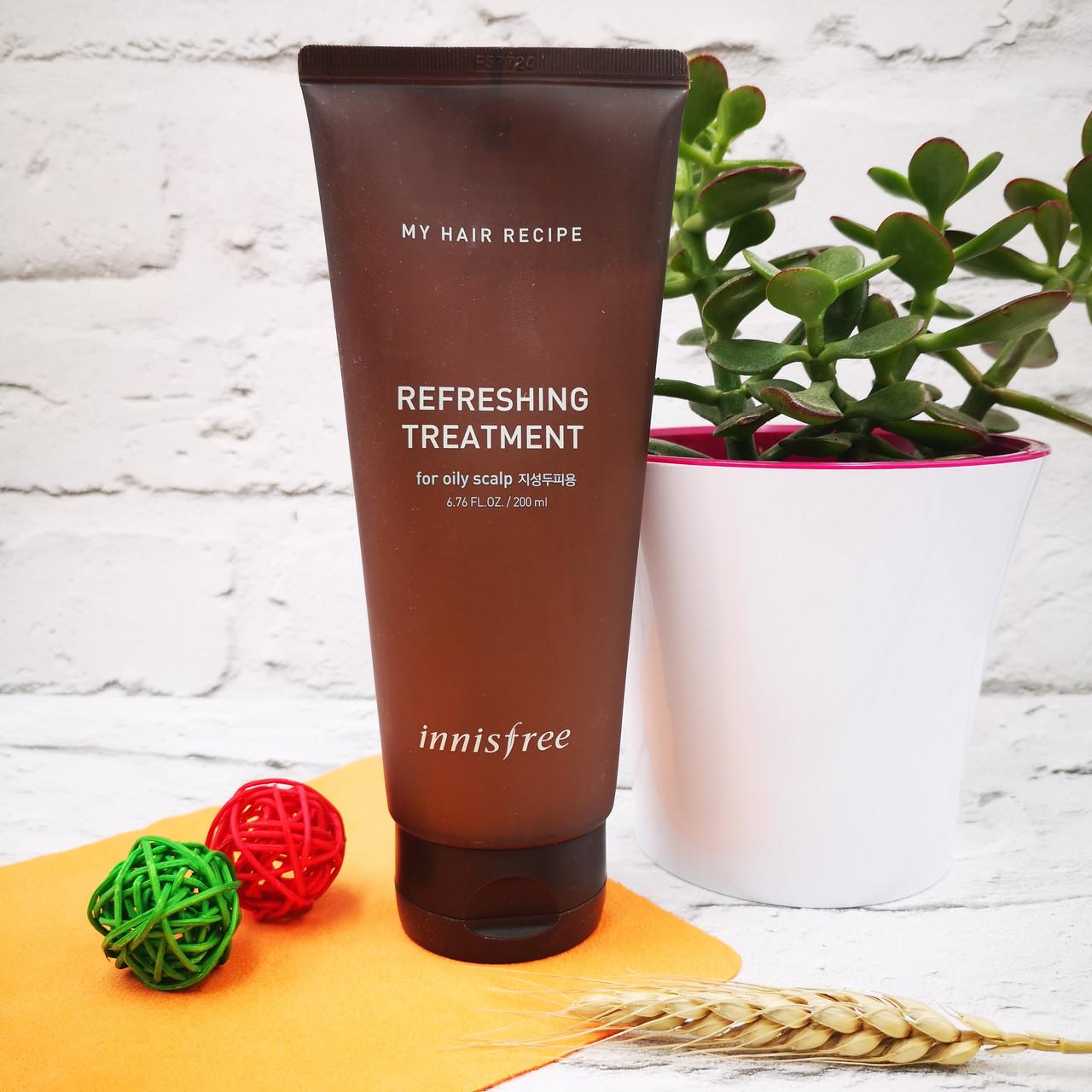 Innisfree Глубокоочищающая безсиликоновая маска для жирной кожи головы My Hair Recipe Refreshing Treatment
