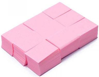 Безворсовые салфетки для маникюра розовые