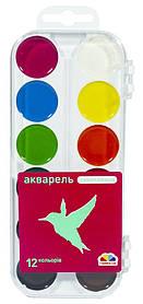 Акварельні фарби Гама 12 кольорів