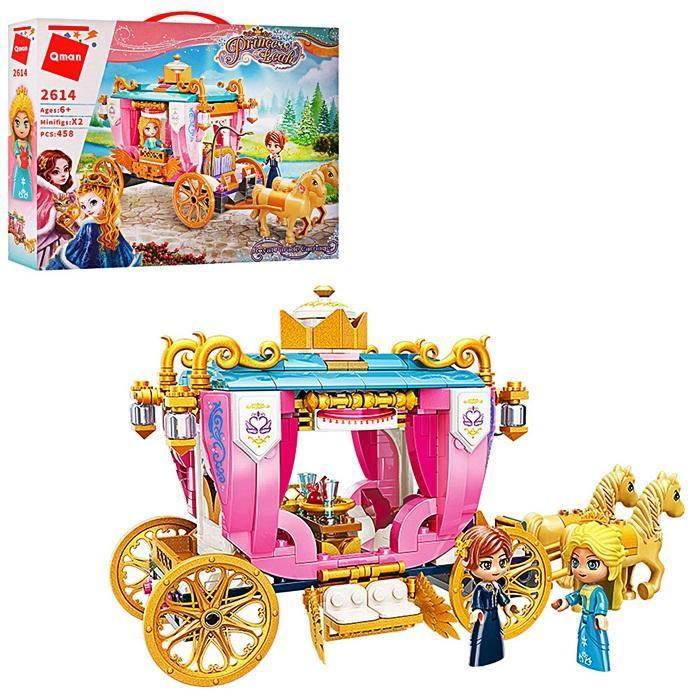 Конструктор Brick.Конструктор детский для девочек карета для принцессы.