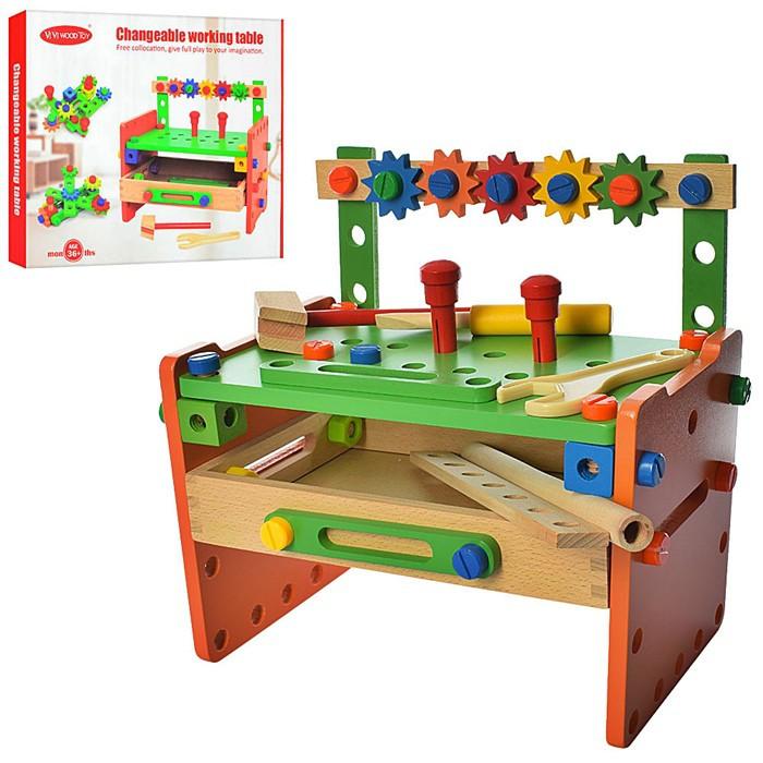 Дерев'яна іграшка Конструктор-столик