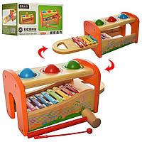 Деревянная игрушка Развивающий Центр.Музыкальная развивающая игрушка для малышей.