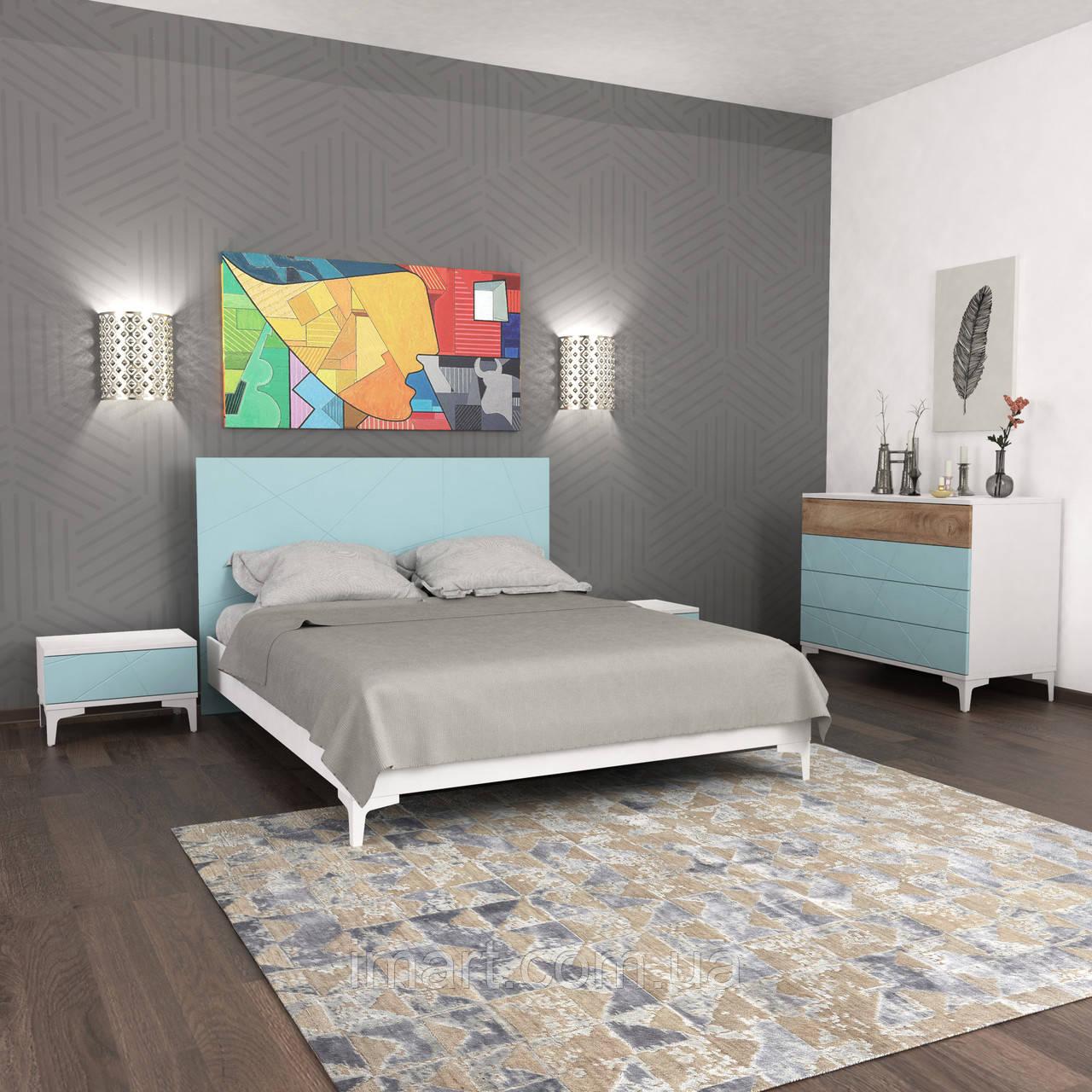 Спальний комплект Picassa b3 БЛАКИТНА ЛАГУНА