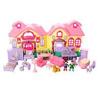 Кукольный домик  с фигурками и мебелью