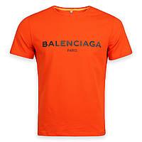 Футболка мужская оранжевая с принтом BALENCIAGA Ф-10 ORN L(Р) 19-646-020